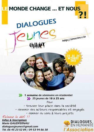 Affiche Dialogues jeunes